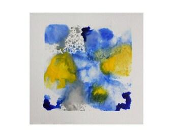 encaustic art - abstract wall art  - original abstract encaustic painting - beeswax art