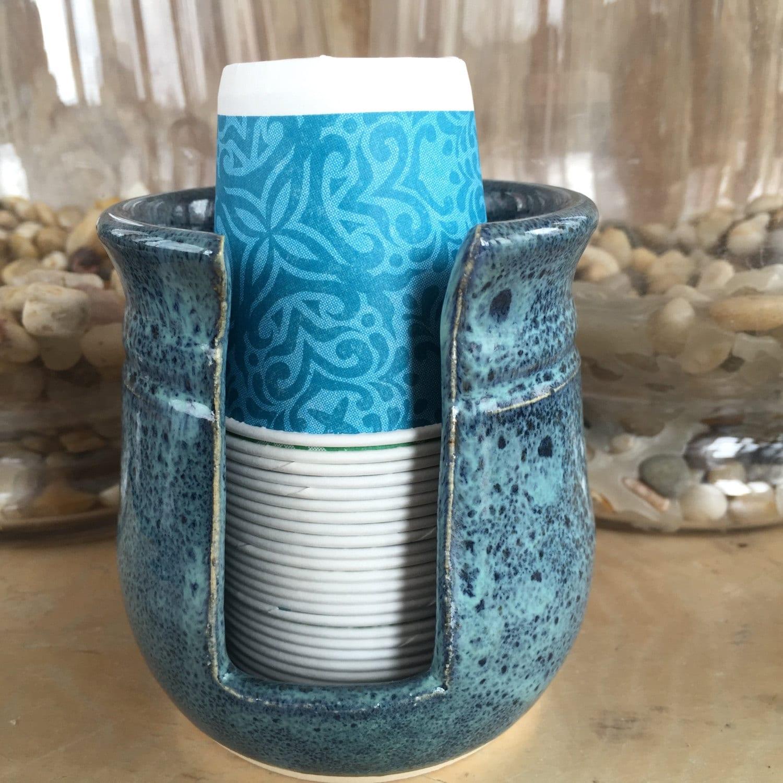 ceramic bathroom cup holder disposable cup dispenser paper cup