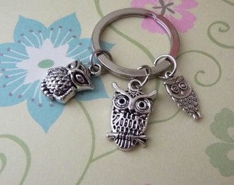 Silver Owl Keychain - Ready to Ship