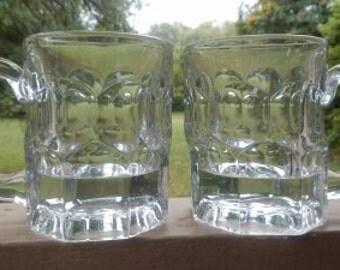 Heavy Glass Vintage Beer Mugs!