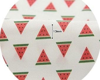 Mini Watermelon Pattern Digital Printing Cotton Fabric by Yard