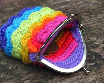 Rainbow coin purse, girls coin purse, girls rainbow coin purse