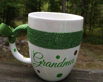 Personalized Glitter Band Coffee Mug