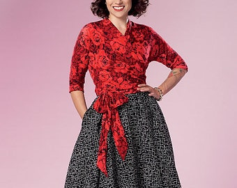 Misses' Top and Skirt Butterick Pattern B6285