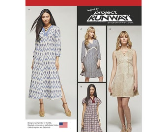 Simplicity Sewing Pattern 8125 Misses' Project Runway Dresses with Bodice Variations