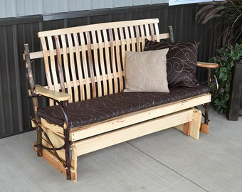 Rustic Hickory 5 ft. Porch Glider