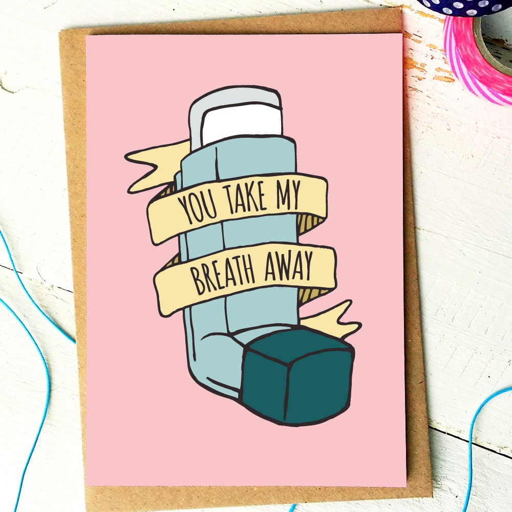 You Take My Breath Away Funny Valentine Card Valentines