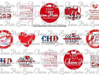 CHD Congenital Heart Defect Bottle Cap images