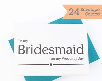 Thank You Card, Bridesmaid Thank You Card, Thank My Bridesmaid (WC110-PR)