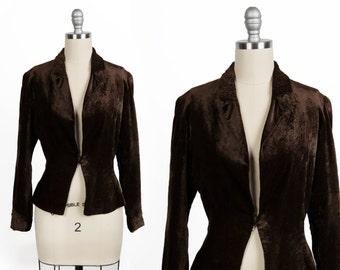 Vintage velvet blazer // Edwardian jacket
