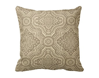 Taupe Throw Pillow Cover Taupe Pillow Cover Brown Pillows Damask Pillows Accent Pillows Euro Pillows Decorative Pillows for Couch Pillows