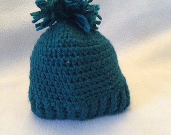 Newborn- 3 months blue hat