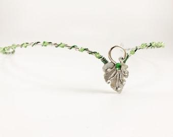 Silver Circlet - Silver Elven Leaf Circlet - Wedding Circlet - Renaissance Circlet - Elven Head Piece - Medieval Circlet - Elven Crown