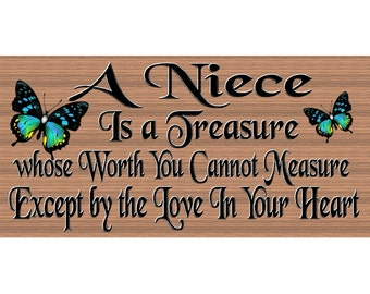 Niece Wood Signs  - Niece sign - Niece plaque - GS 2569