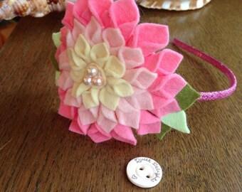 Chrysanthemum flower headband / clip
