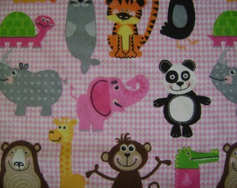 Animal Flannel Fabric by the yard