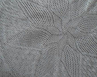 Hand Knitted Circular Round Christening Baby Shawl Blanket Throw  Gift Taking Home or Baby Shower