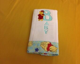 Diaper Burp Cloth-Pooh baby