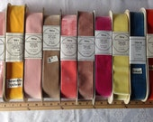 """Velvet Vintage Ribbons. Sold by yard. 2"""" Wide, Made in Switzerland."""