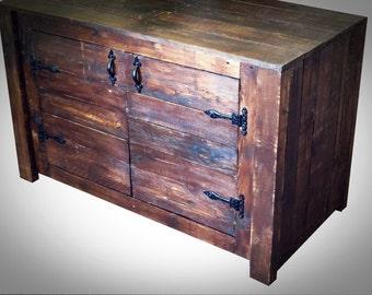 Wood Sideboard.Reclaimed Wood , Rustic/Countryside Style, Solid Wooden Handmade. Bespoke.