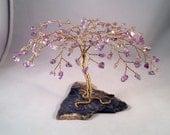 Ametrine Amethyst Citrine Crystal Gem Tree Wire Sculpture Feng Shui Gemstone Tree