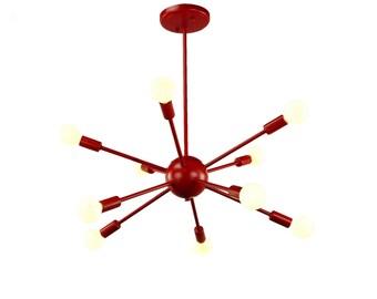 Mid Century Modern Sputnik Atomic Lamp Starburst Chandelier