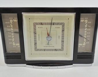 Art Deco Airguide Fee & Stemwedel Desktop Weather Station Barometer Bakelite