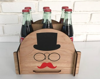6 Pack Soda Caddy featuring a Ginger Gentleman