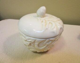 Lidded Bowl Acorn, Oak Leaves by Hallmark, Sugar Bowl, Preserves dish, Candy Dish Autumn Home Decor