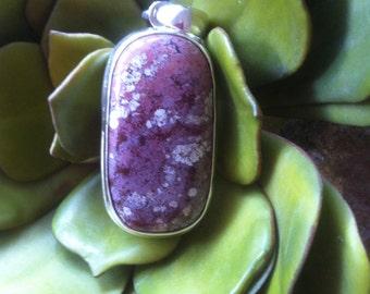 "Ocean Jasper Sterling Silver Pendant ~ Madagascar ~ ""Cherry Blossoms"" RARE"
