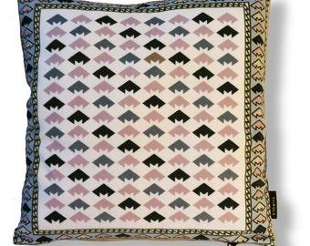 Natural velvet cushion cover GRANITE