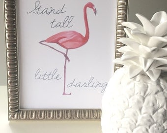 "Flamingo ""Stand Tall"" Printable PDF"