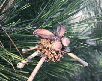 Natural Sweetgum Mosquito Ornament