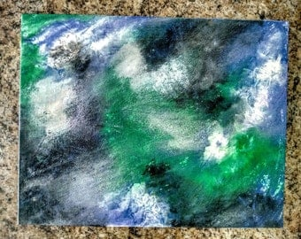 Original Acrylic Abstract Textured Painting Dreamscape 11x13