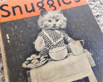 1935 Snuggles Book by Marjorie Barrows Featuring Real Kitten Photographs