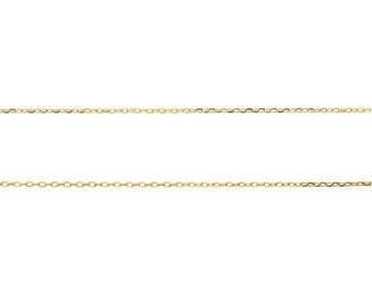 14K Yellow Gold 0.80mm Diamond Cut Cable Necklace Chain 22 inches Custom Made Special Order CKLCH1018.1005.P