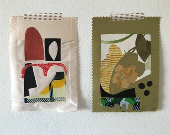 Fabric collage sampler pair No.1465