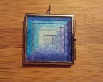 Colorwash Quilt Block Necklace