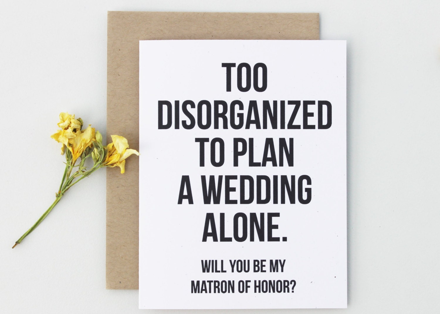 Will You Be My Matron Of Honor Card Matron Of By