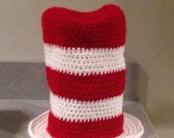 Dr. Seuss crochet cat in the hat