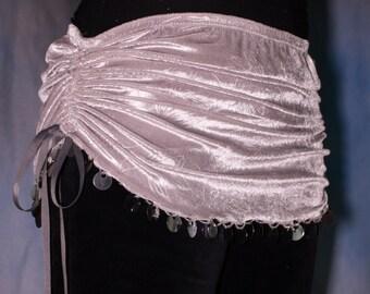 Silvery Gray Mini Skirt
