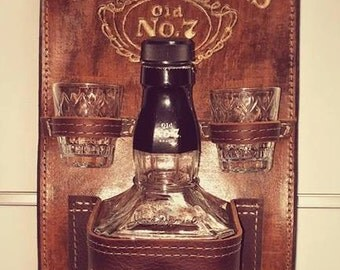 Jack Daniels Whiskey Holder, Jack Daniels Holder, Jack Daniels Accessories, Jack Daniels Gift, Jack Daniels Bottle Holder