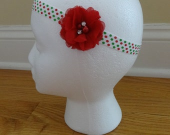 Delicate Holiday Flower Headband
