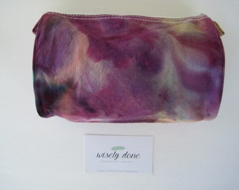 SALE!  Hand Dyed Canvas Cosmetic Bag