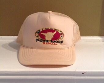 Vintage Hang Loose Hawaii trucker hat