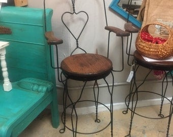 Antique ice cream parlor twosted metal chairs