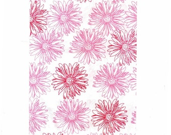"""100 5"""" x 7"""" Paper Gift Bags - Flower Print"""