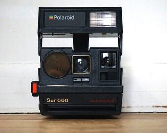 Vintage Polaroid Sun 660 AutoFocus Instant Film Camera// Polaroid 600// Film// Photography