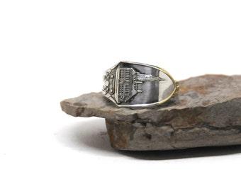 denmark ring, nakskov ring, spoon ring,  silver plate ring