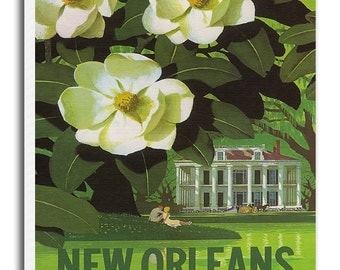 New Orleans Vintage Art Travel Poster Print Canvas Hanging Wall Decor xr861